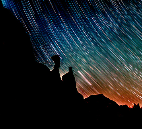 Star Trails in Arches
